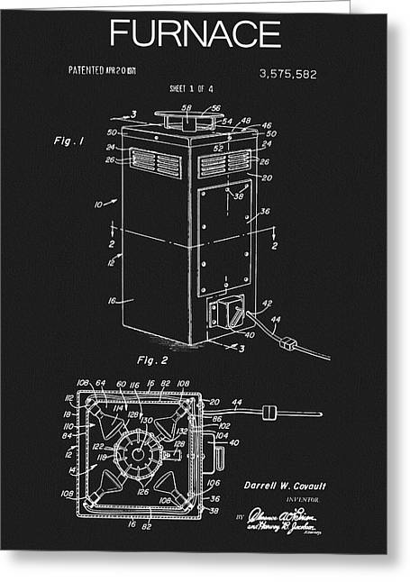 1971 Furnace Patent Greeting Card by Dan Sproul