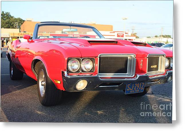 1971 Oldsmobile 442 Convertible Greeting Card by John Telfer