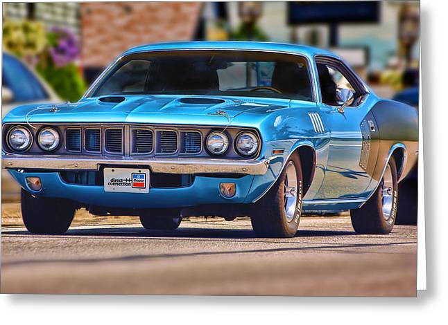 1971 Plymouth 'cuda 383 Greeting Card by Gordon Dean II