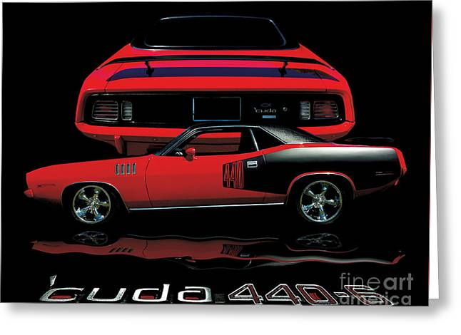 1971 Plymouth Cuda 440 Six Pack    Greeting Card by Peter Piatt