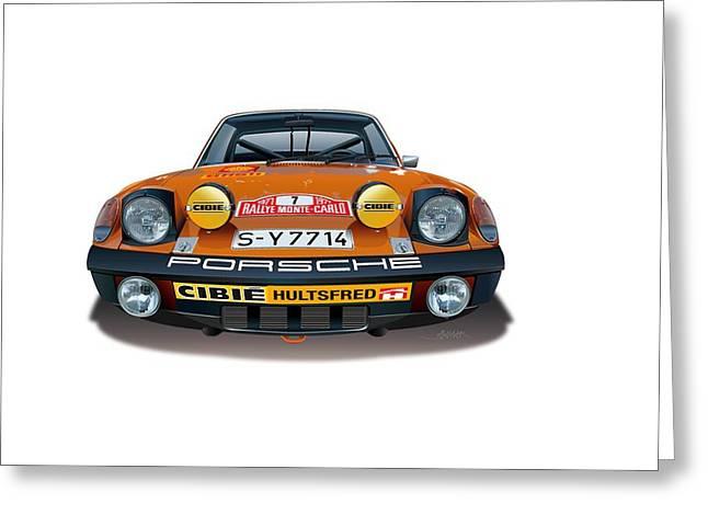 1971 Porsche 914-6 Greeting Card