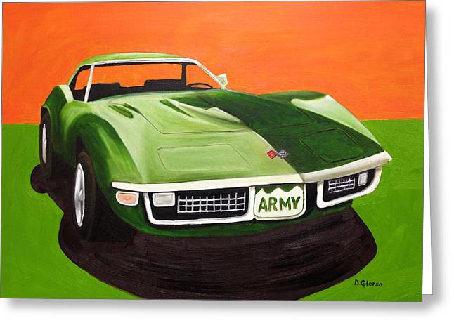 1971stingray-army Greeting Card