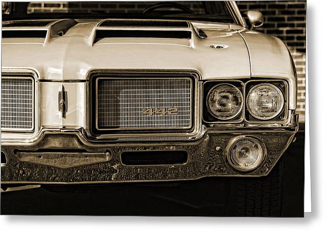 1972 Olds 442 - Sepia Greeting Card by Gordon Dean II