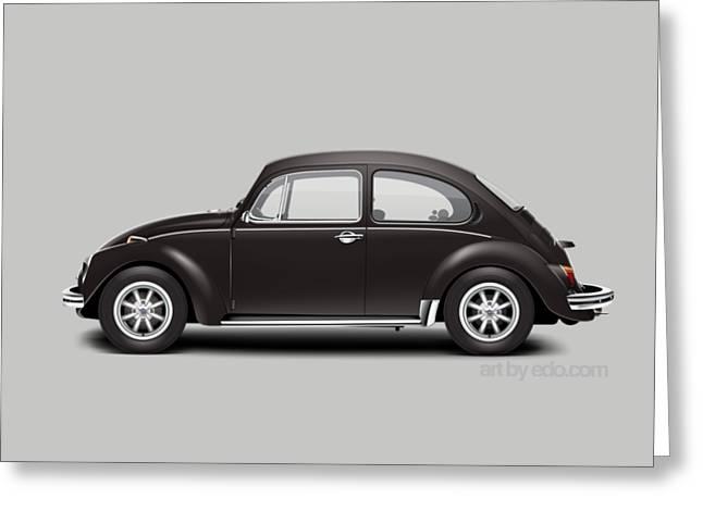 1972 Volkswagen 1300 - Custom Greeting Card by Ed Jackson