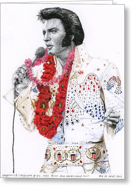 1973 Aloha Bald Headed Eagle Suit Greeting Card by Rob De Vries
