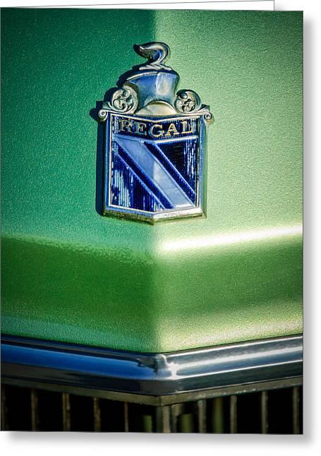 1973 Buick Regal Hood Ornament Greeting Card by Jill Reger