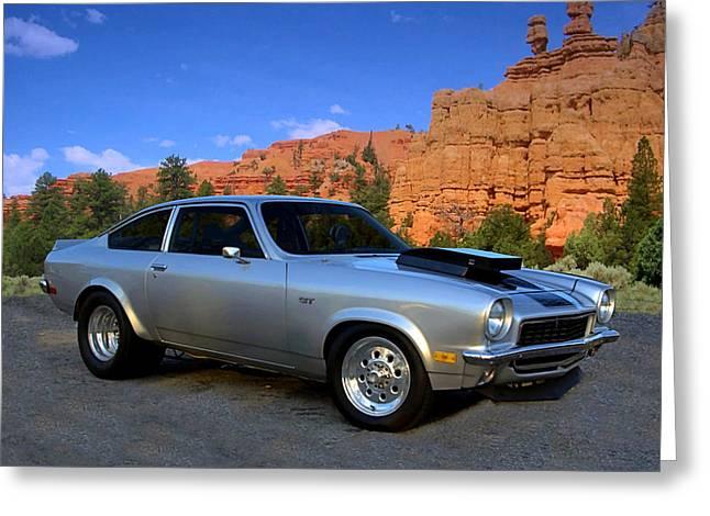 1973 Chevrolet Vega Pro Street Dragster Greeting Card