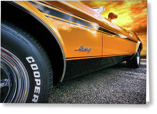 1973 Ford Mustang Greeting Card by Gordon Dean II
