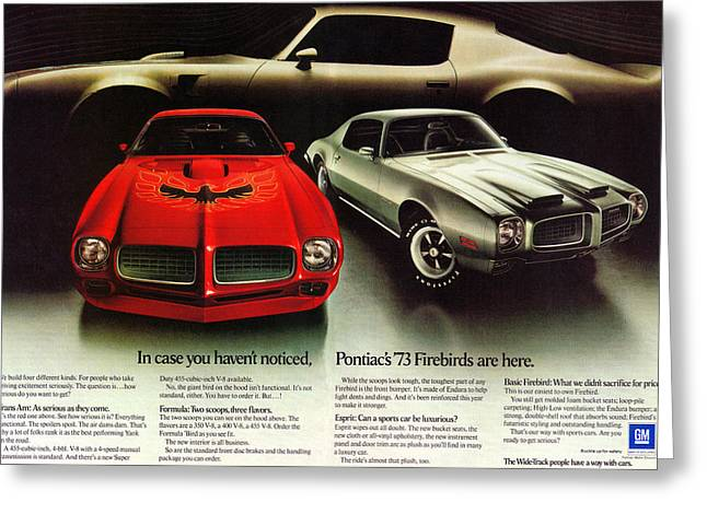 Trans am greeting cards fine art america 1973 pontiac firebird trans am greeting card m4hsunfo