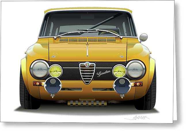1974 Alfa Romeo Giulia Greeting Card by Alain Jamar