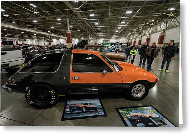 Greeting Card featuring the photograph 1975 Amc Pacer by Randy Scherkenbach