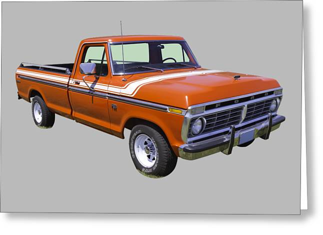 1975 Ford F100 Explorer Pickup Truck Greeting Card by Keith Webber Jr