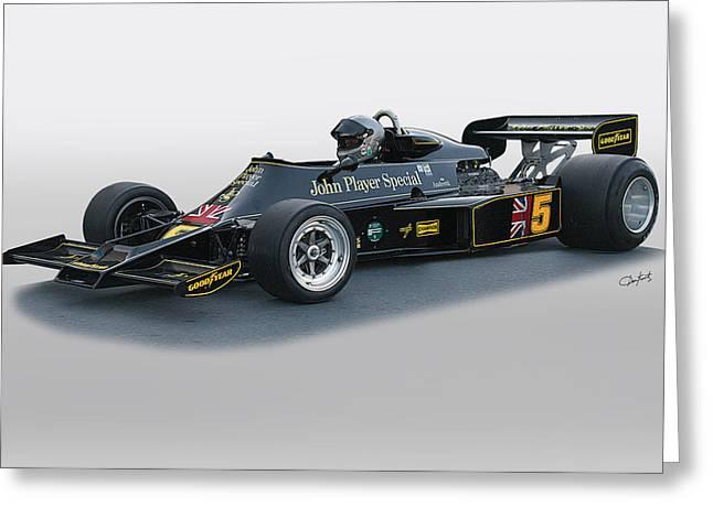 1976 Lotus 77 Vintage F1 Racecar Greeting Card by Dave Koontz