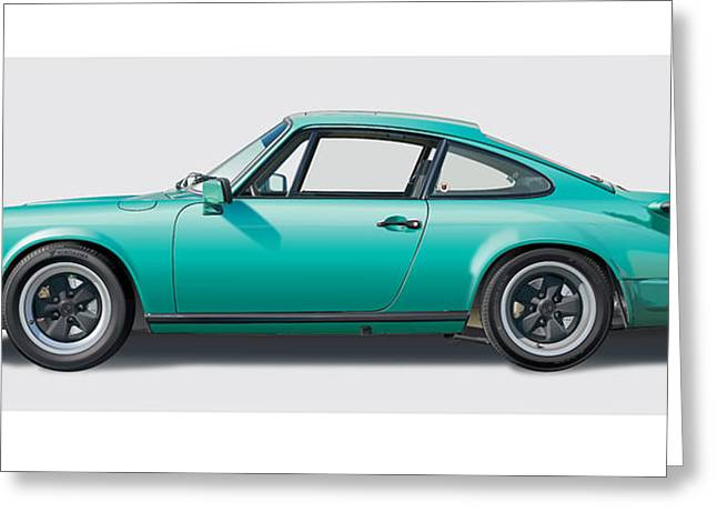 1976 Porsche Euro Carrera 2.7 Illustration Greeting Card