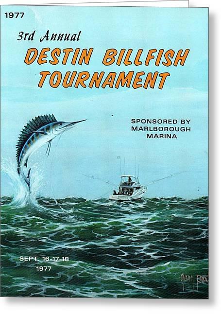 1977 Destin Billfish Tournament Greeting Card