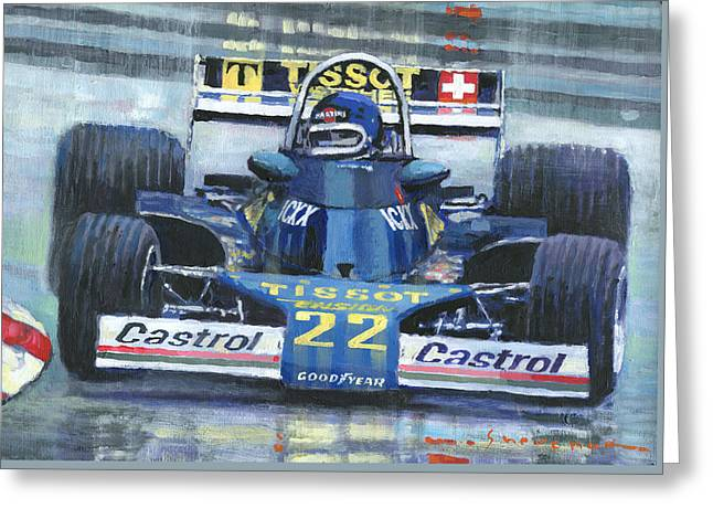 1977 Monaco Gp Ensign Ford N177 Jacky Ickx Greeting Card