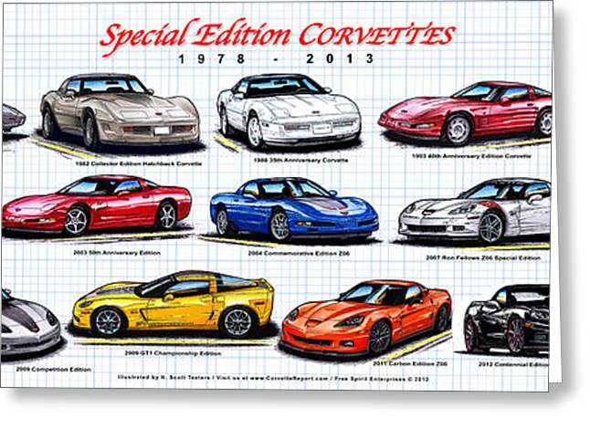 1978 - 2011 Special Edition Corvettes Greeting Card