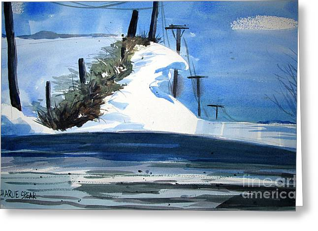 1978 Fourteen Foot Snow Drifts Double Matted Greeting Card