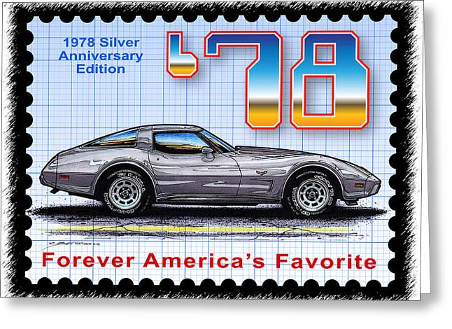 1978 Silver Anniversary Edition Corvette Greeting Card