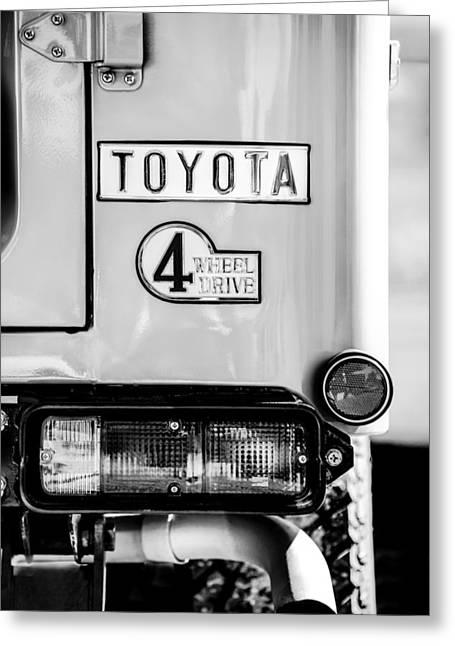 1978 Toyota Land Cruiser Fj40 Taillight Emblem -1191bw Greeting Card by Jill Reger