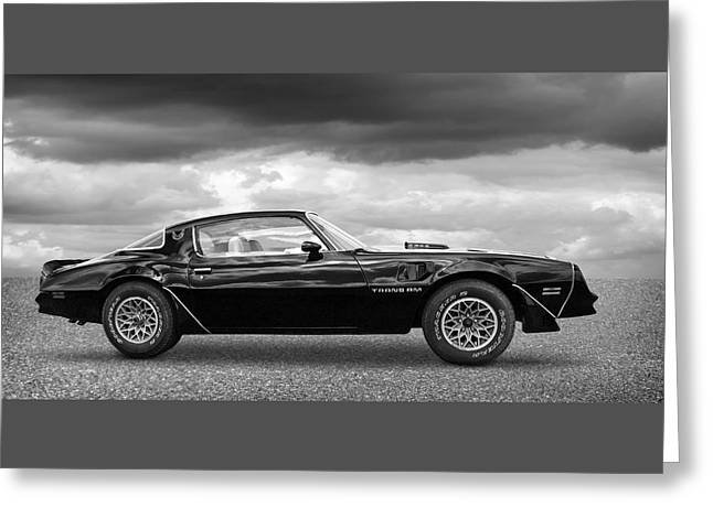 1978 Trans Am In Black And White Greeting Card