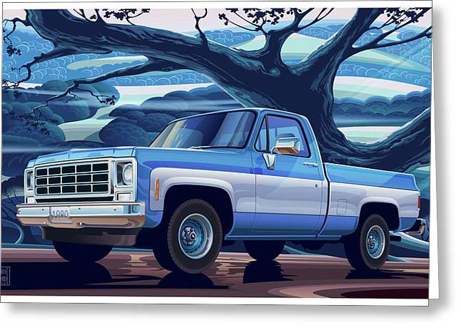 1980-chevrolet Custom-c10-short-bed 350 V8 Greeting Card
