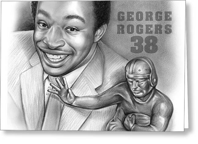 1980 Heisman Winner Greeting Card by Greg Joens