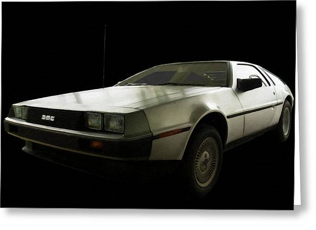 1981-1983 Delorean  Dmc-12 Digital Oil Greeting Card