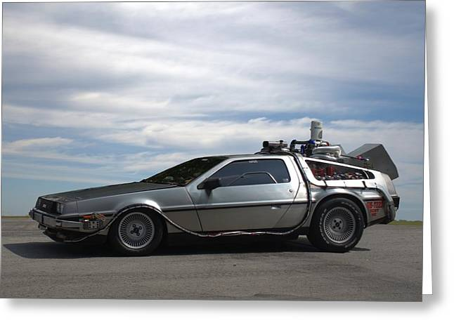 Greeting Card featuring the photograph 1981 Delorean Dmc12 by Tim McCullough