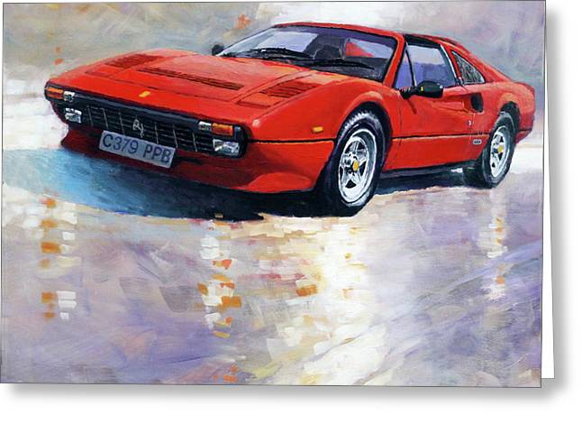 1982-1985 Ferrari 308 Gts Greeting Card by Yuriy Shevchuk