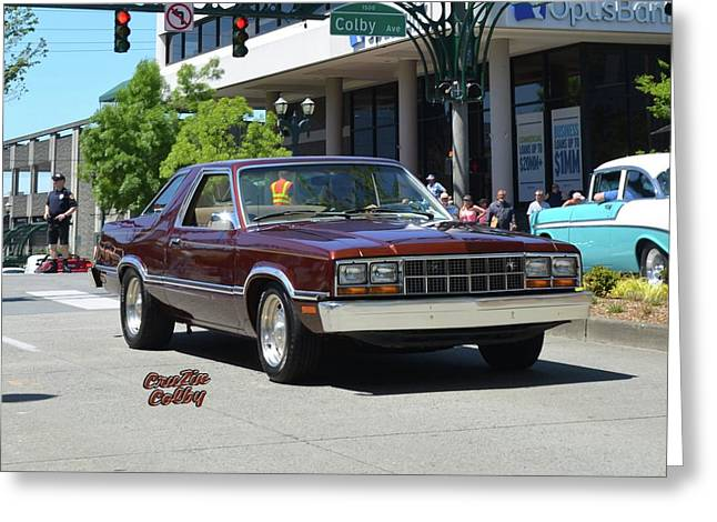 1983 Ford Fairmont Futura Starkey Greeting Card by Mobile Event Photo Car Show Photography