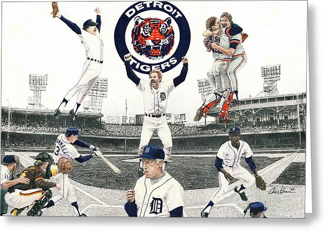 1984 Detroit Tigers Greeting Card by Chris Brown