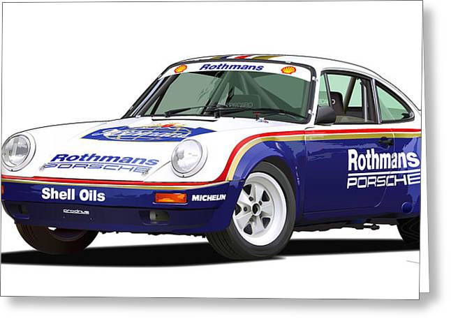 1984 Porsche 911 Sc Rs Illustration Greeting Card by Alain Jamar