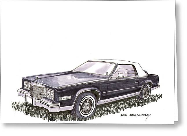 1985 Cadillac El Dorado Convertible Greeting Card by Jack Pumphrey