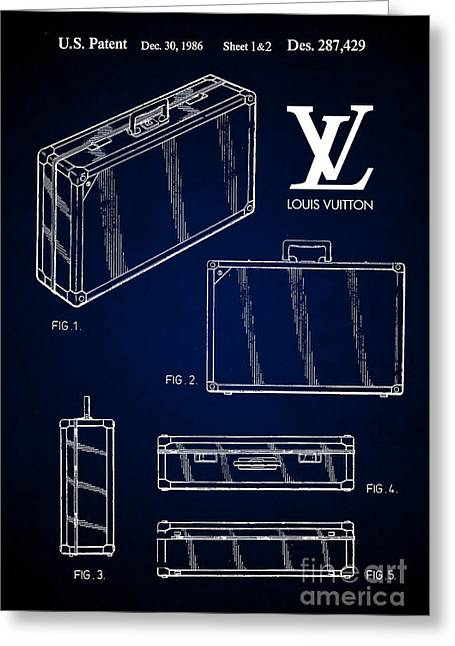 1986 Louis Vuitton Suitcase Patent 7 Greeting Card by Nishanth Gopinathan