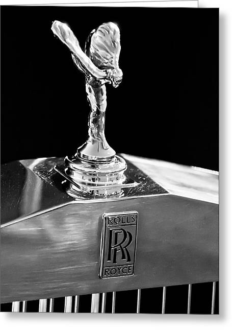1986 Rolls-royce Hood Ornament 2 Greeting Card by Jill Reger