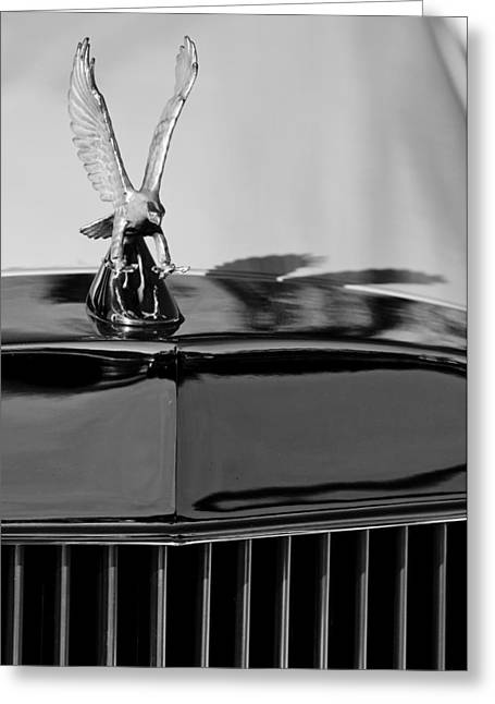 Parts Of Cars Greeting Cards - 1986 Zimmer Golden Spirit Hood Ornament 4 Greeting Card by Jill Reger