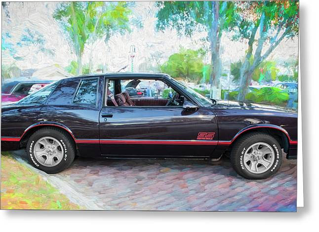 1987 Chevrolet Monte Carlo Ss Coupe C121 Greeting Card by Rich Franco