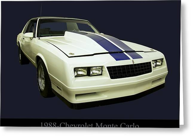 1988 Chevy Monte Carlo Greeting Card by Chris Flees