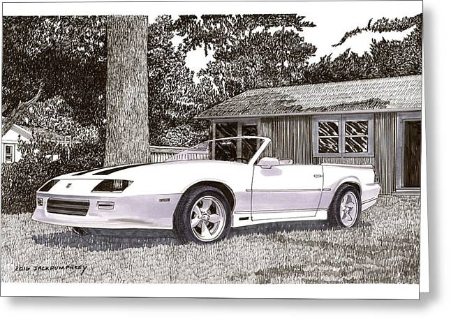 1989 Camaro R S Convertible Greeting Card by Jack Pumphrey