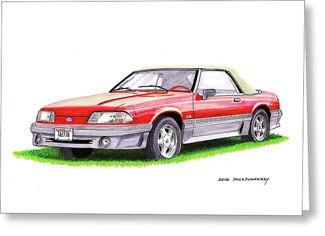 1989 Saleen Mustang Convertible Greeting Card by Jack Pumphrey