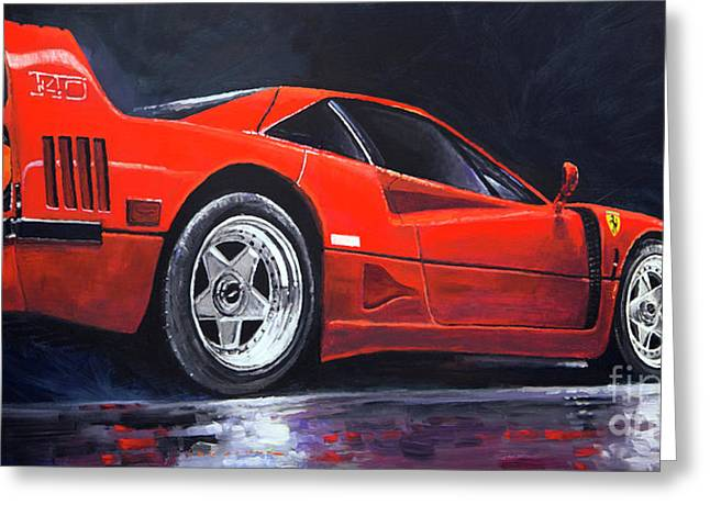 1990 Ferrari F40  Greeting Card by Yuriy Shevchuk