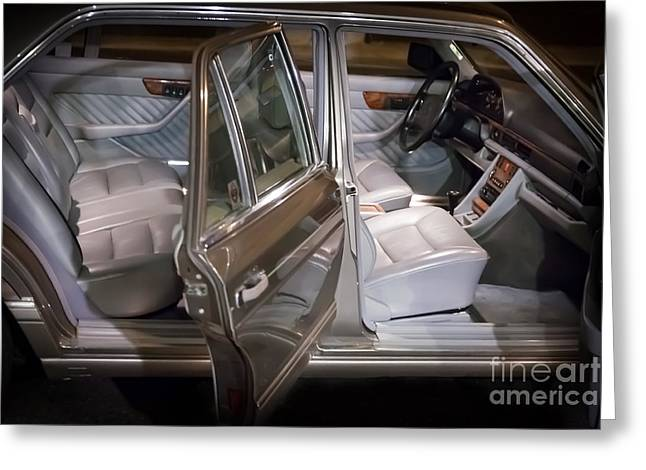 1990 Mercedes Sel Interior Greeting Card