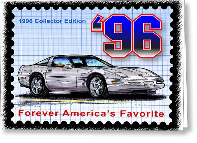 1996 Collector Edition Corvette Greeting Card