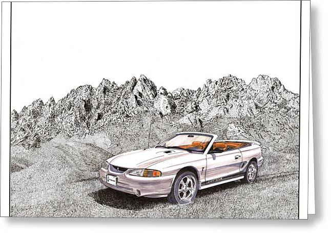 1997 Svt Mustang Cobra Convertible Greeting Card by Jack Pumphrey