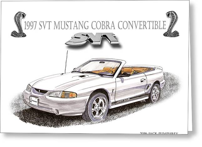 1997 Svt Mustang Cobra Poster Greeting Card by Jack Pumphrey