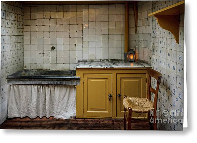 19th Century Kitchen In Amsterdam Greeting Card