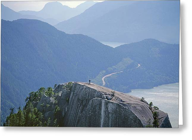 1m2918 South Summit Stawamus Chief From Second Summit Greeting Card