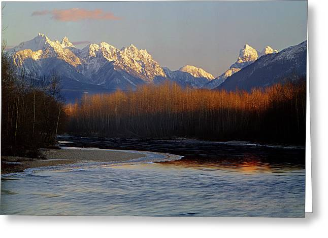 1m4525 Skykomish River And West Central Cascade Mountains Greeting Card
