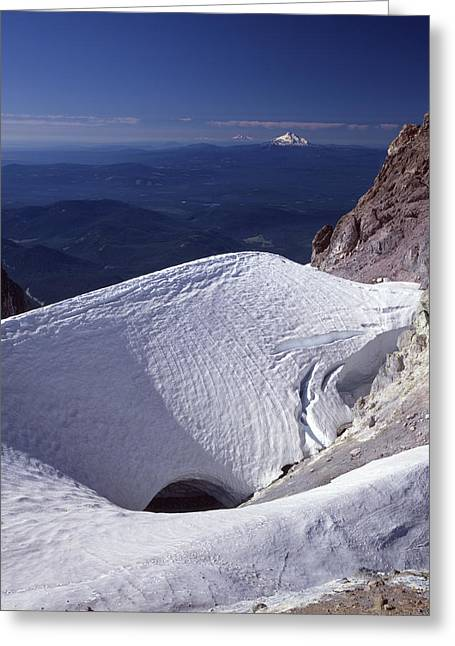 Greeting Card featuring the photograph 1m5140 Crater On Mt. Hood Or by Ed Cooper Photography